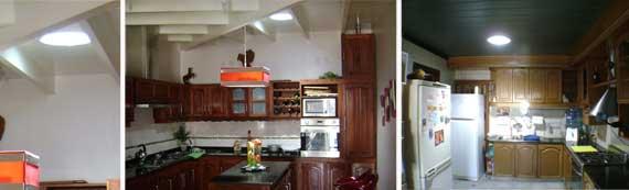 Luz solar en las cocinas