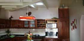 Trabajo de iluminación en cocinas de casas particulares